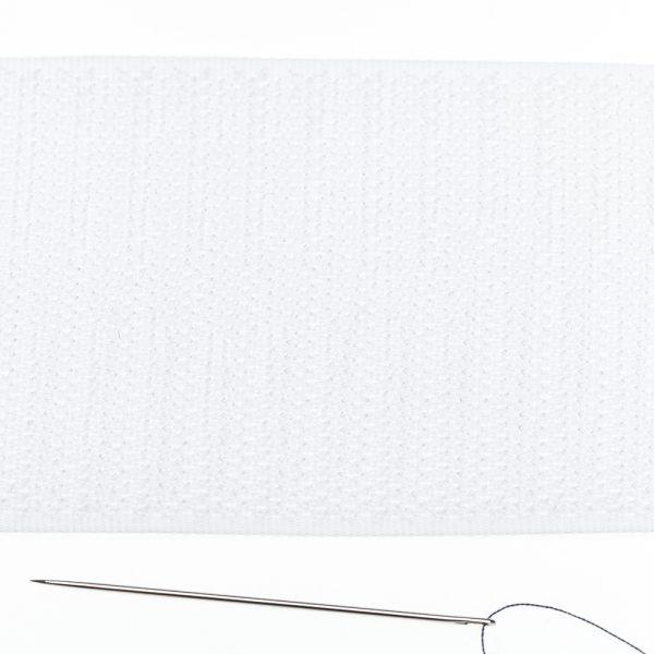 Opnaaibaar Klittenband 100 mm haak wit
