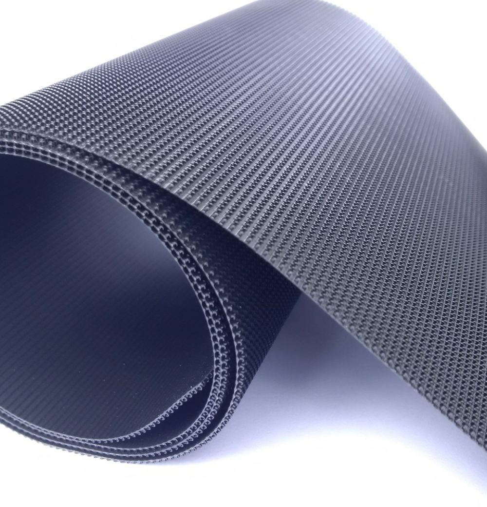 Extra dun 40 mm opnaaibaar haakband zwart